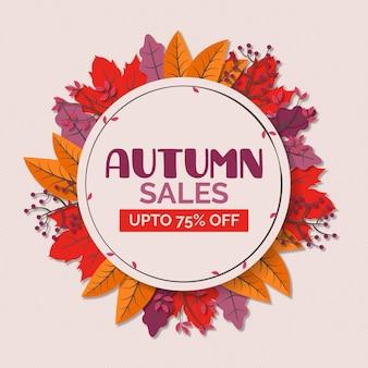 Herfst verkoop sjabloonontwerp