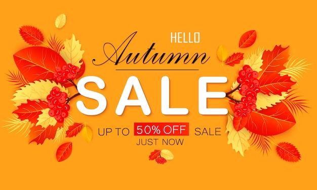 Herfst verkoop vector banner