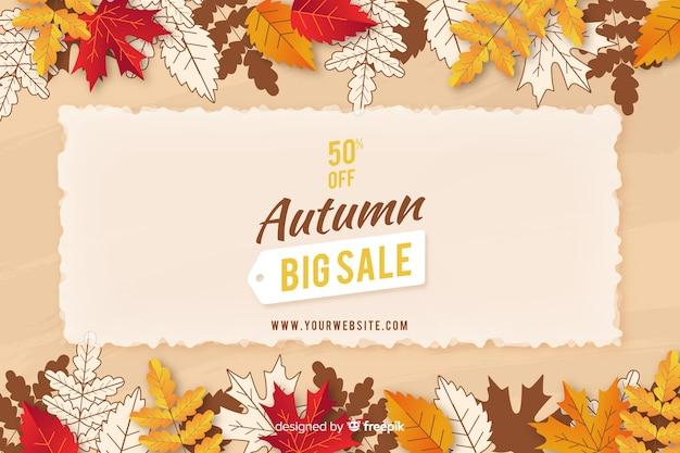 Herfst verkoop vlakke stijl als achtergrond
