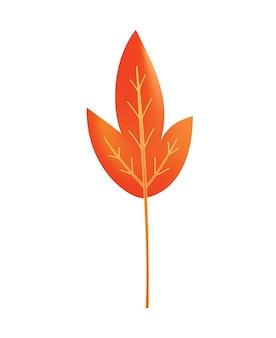 Herfst verlof. symbool met aquarel textuur, vectorillustratie. geïsoleerde ontwerp element boom blad. verlof voor seizoensgebonden wenskaartontwerp