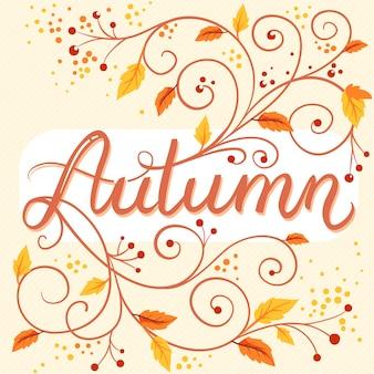 Herfst vintage achtergrond