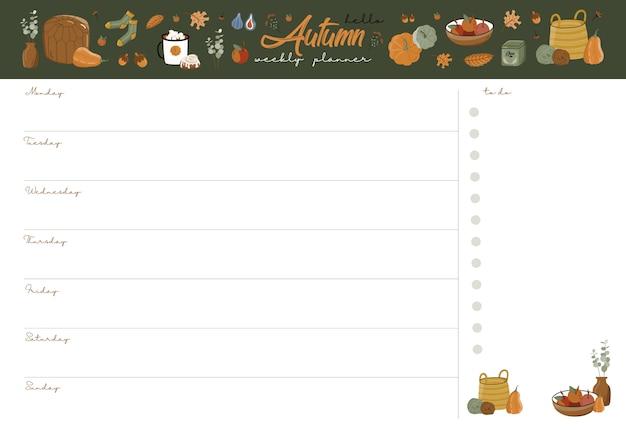 Herfst weekplanner.