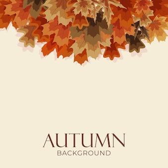 Herfstachtergrond met vallende bladeren