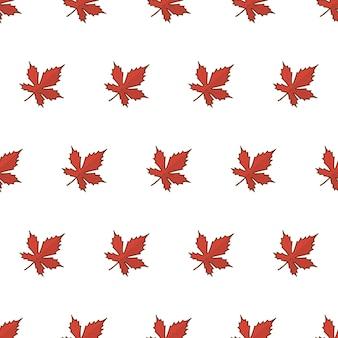 Herfstblad naadloze patroon op een witte achtergrond. herfstbladeren of herfstgebladerte thema vectorillustratie