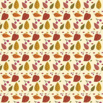 Herfstblad naadloze patroon