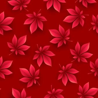 Herfstbladeren achtergrond. val naadloos patroon. vectorillustratie eps10