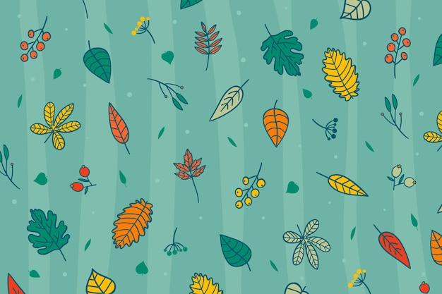 Herfstbladeren behang