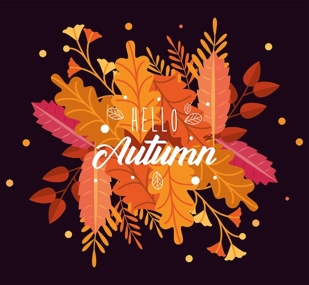 Herfstbladeren en belettering