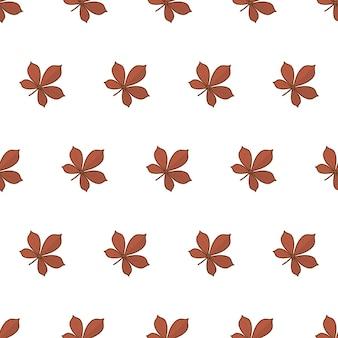 Herfstbladeren naadloos patroon op een witte achtergrond. herfst gebladerte thema vectorillustratie