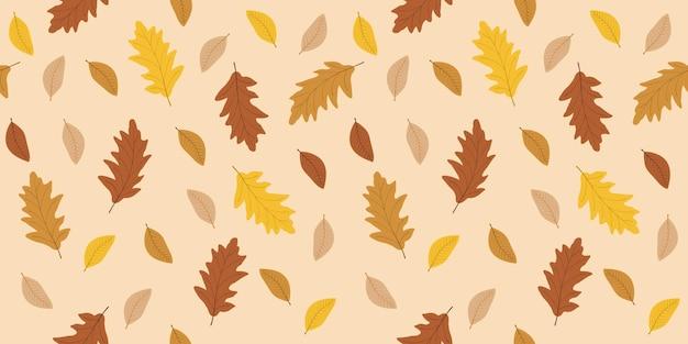 Herfstbladeren naadloze patroon achtergrond
