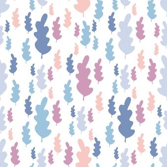 Herfstbladeren naadloze patroon in pastel kleuren.