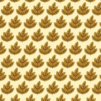 Herfstbladeren naadloze patroon ontwerp achtergrond