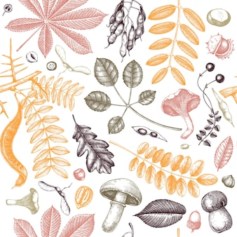 Herfstbladeren naadloze patroon