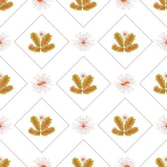 Herfstbladeren patroon naadloos abstracte herfstbloemen en bladeren in geometrische vormen