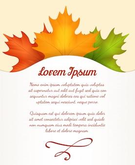 Herfstbladeren poster