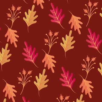 Herfstbladeren seizoen naadloos patroon
