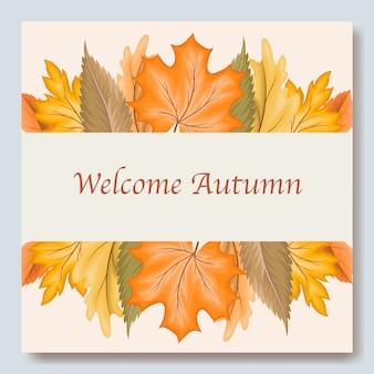 Herfstbladeren uitnodiging kaartsjabloon