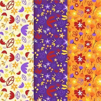 Herfstdecoratiepatroon met plat ontwerp