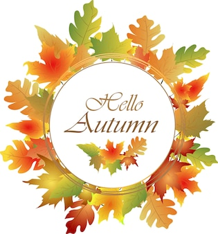 Herfstframe met kleurrijke bladeren