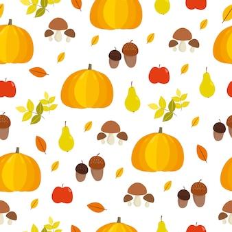 Herfstpatroon met pompoenen