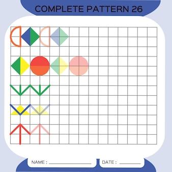 Herhaal patroon pazzle copy picture special voor kleuters afdrukbaar werkblad voor kinderen om te oefenen