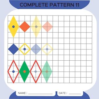 Herhaal patroon pazzle copy picture special voor kleuters afdrukbaar werkblad voor kinderen