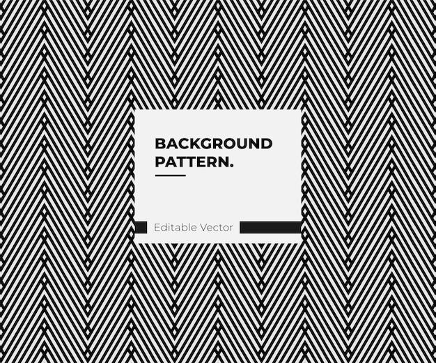Herhalend geometrisch trendy diagonaal donker patroonontwerp