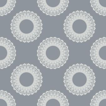 Herhalend vectorpatroon als achtergrond. het patroon wordt als naadloos staal meegeleverd. zeer gemakkelijk te bewerken.