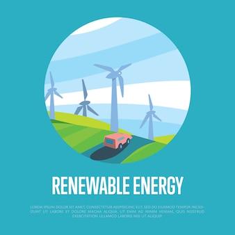 Hernieuwbare energie achtergrond