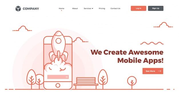 Hero banner afbeelding voor websites of apps.
