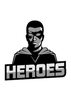 Heroes mascot-logo