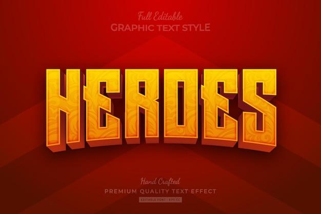 Heroes movie bewerkbare premium teksteffect lettertypestijl