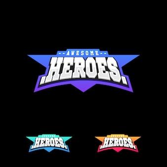 Heroes of superhero-sporttekstlogo