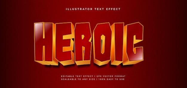 Heroïsche gouden tekststijl lettertype-effect