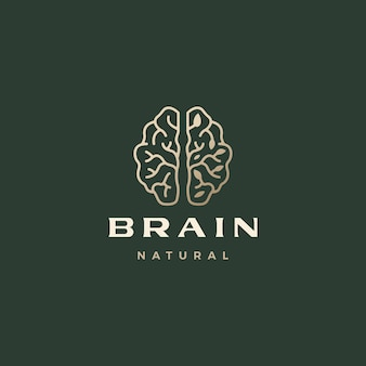 Hersenblad verfijnd esthetisch logo-sjabloon