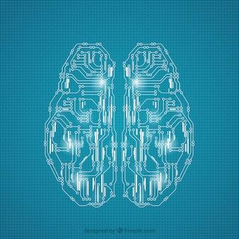 Hersenen gemaakt van schakelingen