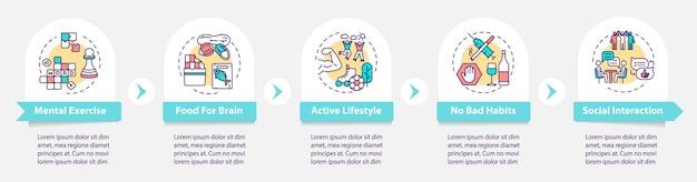 Hersenen gezondheid infographic sjabloon