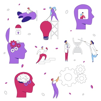Hersenen neurologie psychologie concept