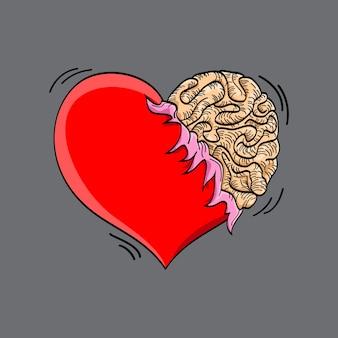 Hersenen van het hart monster