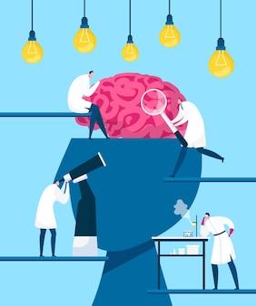Hersenen zoeken idee, ontdekking