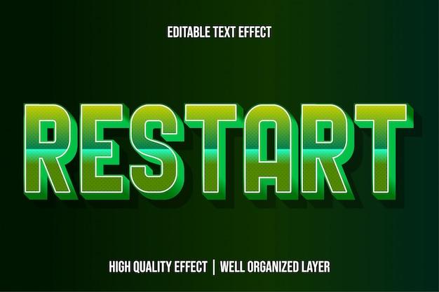 Herstart, bewerkbare moderne teksteffect lettertypestijlen