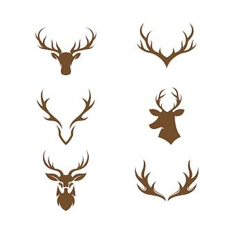 Herten dier sjabloon vector pictogram illustratie ontwerp