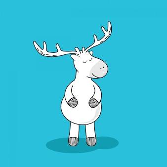 Herten doodle cartoon.