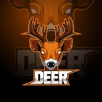 Herten esport mascotte logo ontwerp