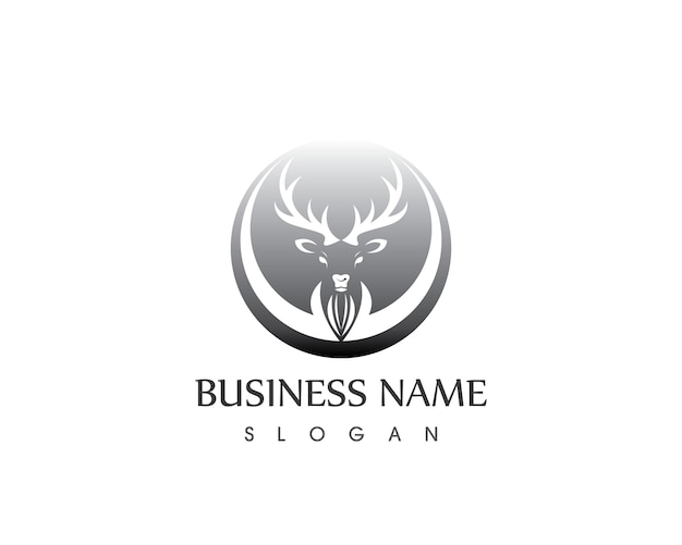 Herten hoofd logo ontwerpsjabloon