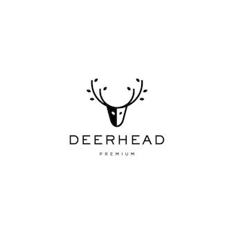 Herten hoofd logo pictogram