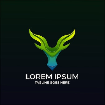Herten kleurrijke logo sjabloon