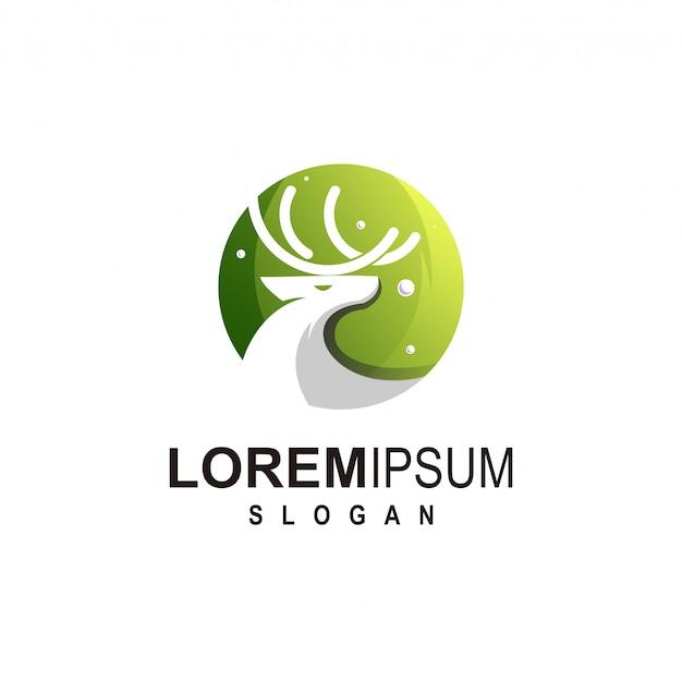 Herten logo-ontwerp premium victor