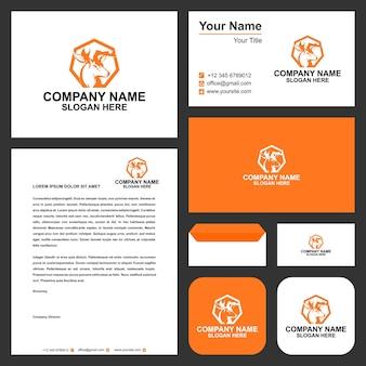 Herten logo ontwerpen inspiratie jacht logo