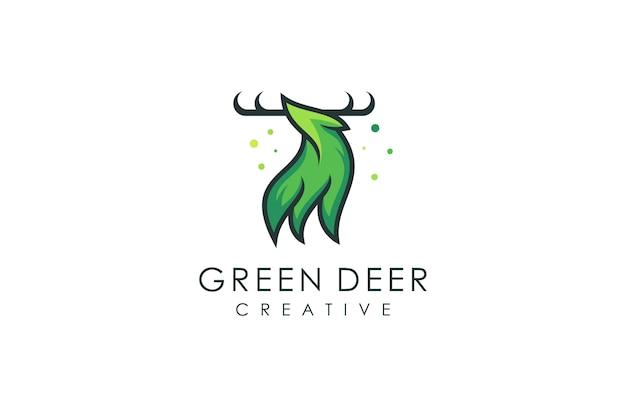 Herten logo, vectorillustratie van een modern dier met een abstract concept